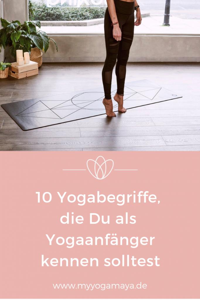 yogabegriffe Anfänger