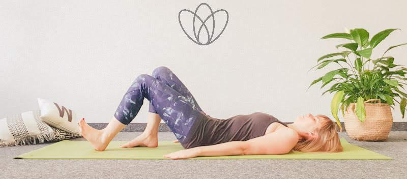 yogamaya übungen Bauchmuskeln Rektusdiastase Heel Slide