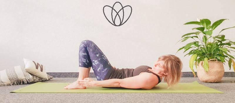yogamaya übungen Bauchmuskeln Rektusdiastase side to side heel Tap