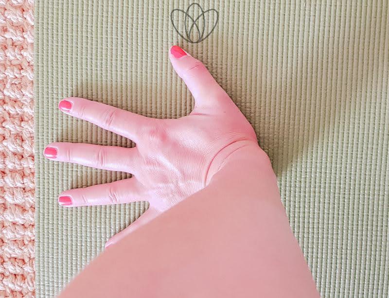 yogamaya schmerzen im Handgelenk im Vierfüßlerstand